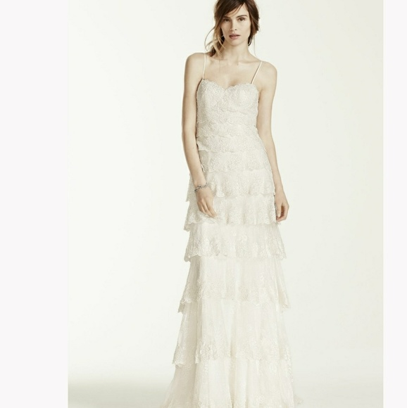 368670930a696 David's Bridal Dresses | Davids Bridal Melissa Sweet Lace Wedding ...